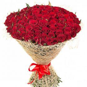 фото букета 101 красная роза