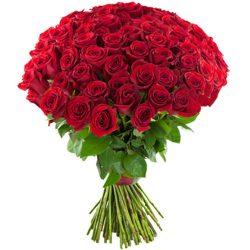 букет 75 красных роз фото