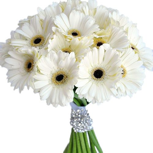 Букет «Белый блеск» хризантемы