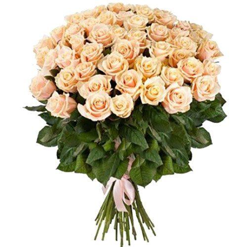 51 кремовая роза фото букета