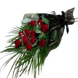 Траурные цветы розы