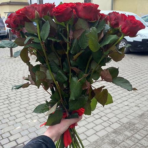 букет красных роз в Николаеве фото