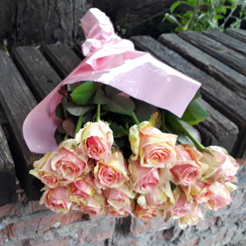 букет нежно-розовых роз в Николаеве фото