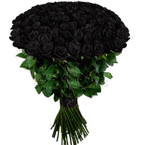 букет 101 черная роза